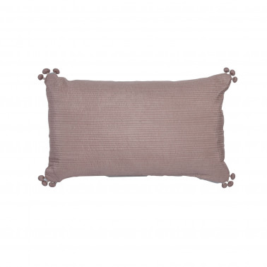 Coussin Falbala ficelle 30 x 50