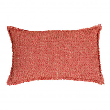 Coussin stonewashed Maia Chambray Rooibos 30 x 50