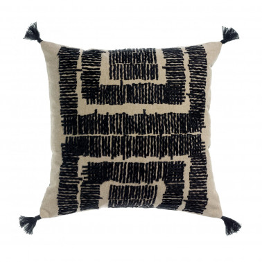 Coussin brodé Letty Ombre 45 x 45