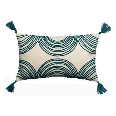 Coussin brodé Solal Paon 30 x 50