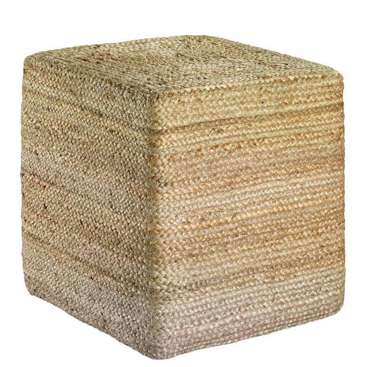 Pouf uni Jarod carre Naturel 40 X 40 X 40