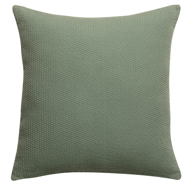 Coussin stonewashed Musa Olive 45 x 45