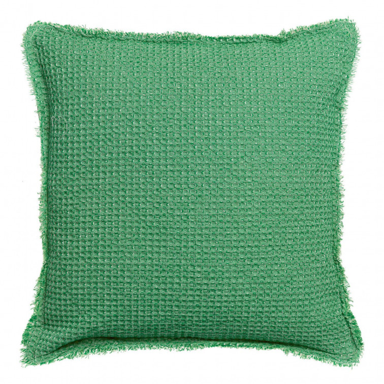 Coussin stonewashed Maia Chambray Agave 45 x 45