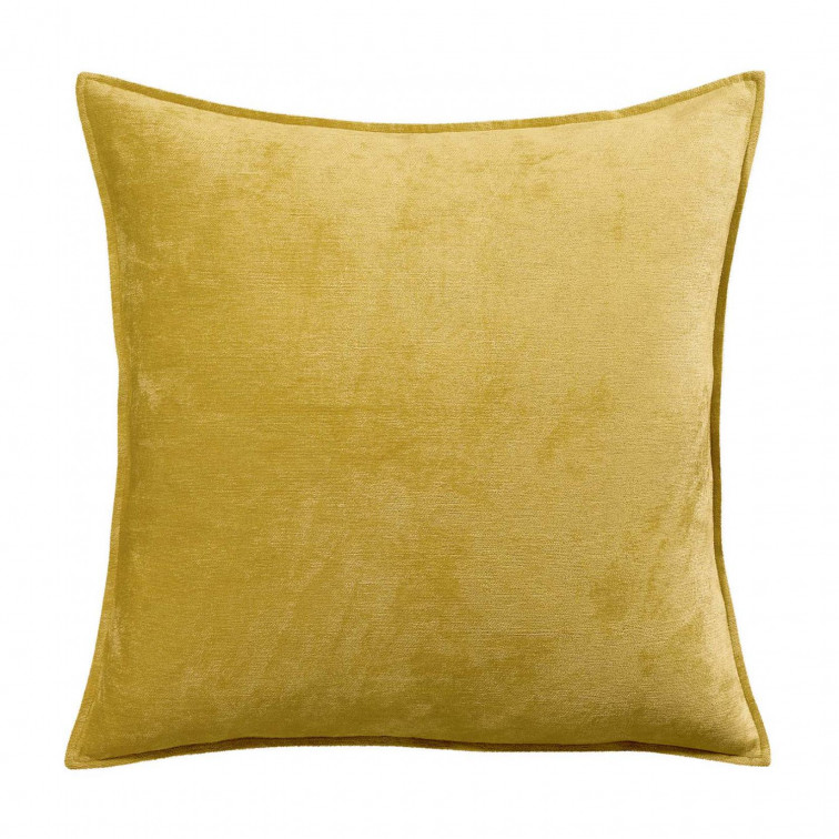 Coussin Velor Curry 45 X 45