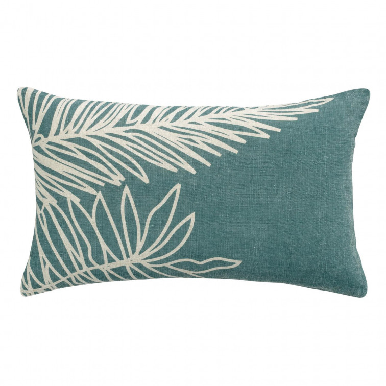 Coussin Stonewashed Zeff Palm Prusse 30 x 50