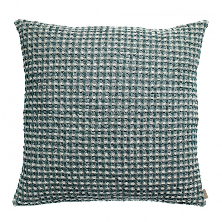 Coussin Stonewashed Naga Vichy Prusse 45 x 45