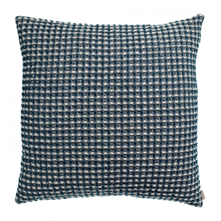 Coussin Stonewashed Naga Vichy Outremer 45 x 45