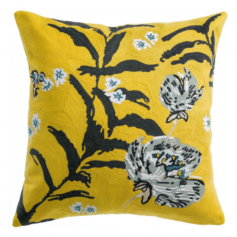 Coussin Anime Fiori Curry 45 x 45