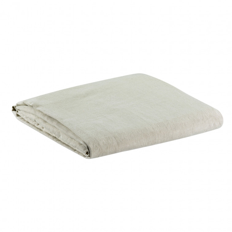 Drap Housse Stonewashed Zephyr Naturel