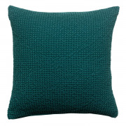 Coussin stonewashed Maia Pétrole 45 x 45