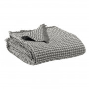 Plaid stonewashed Naga Vichy Gris 140 x 200