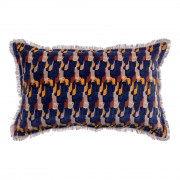 Coussin Tahis velours Encre 30 x 50