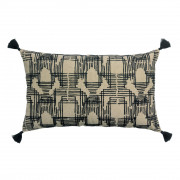 Coussin brodé Gustav Ombre 30 x 50