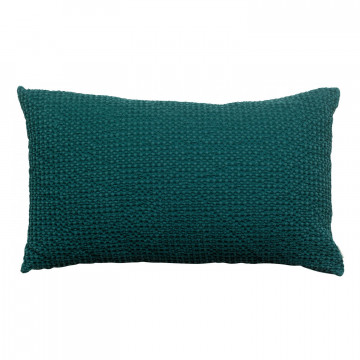 Coussin stonewashed Maia Pétrole 30 x 50