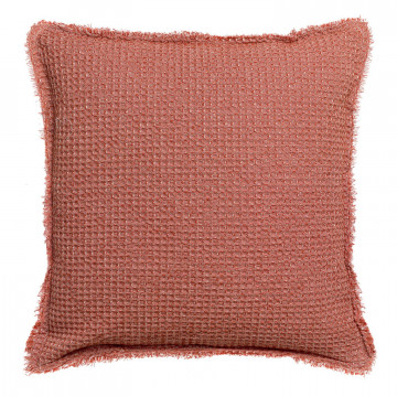 Coussin stonewashed Maia Chambray Rooibos 45 x 45