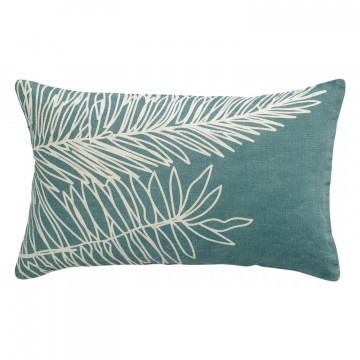 Coussin Stonewashed Zeff Palm Prusse 40 x 65