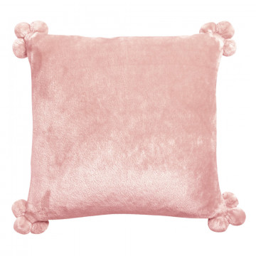 Coussin Tender Pompons Aubepine 45 x 45