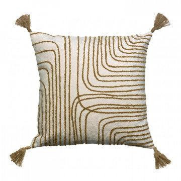 Coussin brodé Gianni Bronze 45 x 45