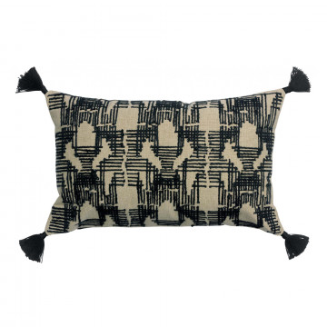 Coussin brodé Gustav Ombre 40 x 65